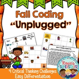 Fall Coding Unplugged ~ Great for Hour of Code™