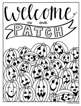 Halloween Activity- Jack-o-lanterns Collaboration Poster