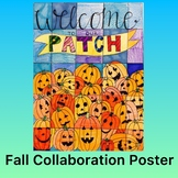 Halloween Activity- Jack-o-lanterns Collaboration Poster
