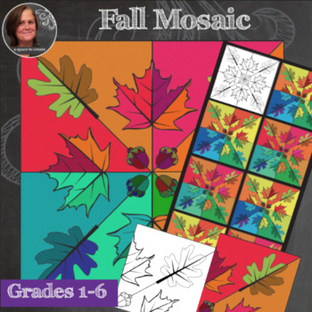 Autumn Mosaic - Radial Symmetry Mosaic - Fall Mosaic