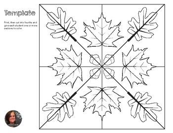Autumn Mosaic - Radial Symmetry Mosaic - Fall Mosaic