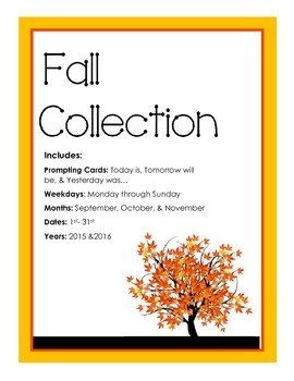 Fall Collection Calander Activity