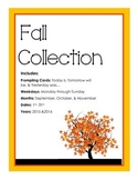 Fall Collection Calander Activity