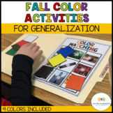 Fall Color Activities for Generalization {Autism, Early Ch