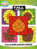 Fall Color By Code Clipart {Zip-A-Dee-Doo-Dah Designs}