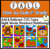 Fall Coloring Pages Color By Code First Grade