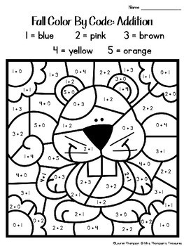 first day of fall coloring pages | Fall Coloring Pages Color By Code First Grade by Mrs ...