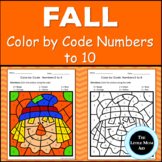 Fall Color By Number | Math Activities Numbers 1 - 10