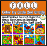 Fall Coloring Pages Color By Code Second Grade