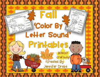 Fall 'Color By Initial Sound' Printables PLUS BONUS Fall Hat Craftivity!