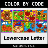 Fall: Color By Letter (Lowercase)