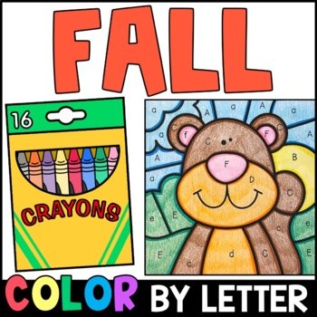 Fall Color By Letter {PRINT & GO}