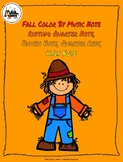 Fall Color By Music Note Rhythm Coloring Set - Half Note