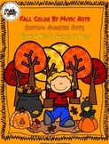 Fall Color By Music Note Rhythm Coloring Set - Quarter Not