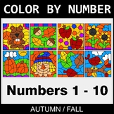 Fall Color By Number 1 - 10