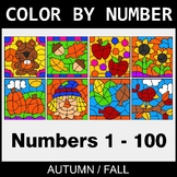 Fall Color By Number 1 - 100
