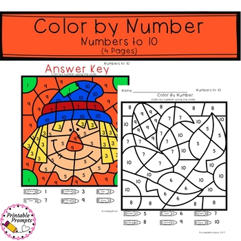 Color By Number- Fall