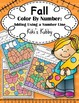 Fall: Color By Number Adding Using a Number Line