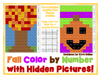 Fall Color By Number Hidden Picture