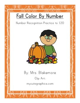 Fall Color By Number - Number Recognition to 120