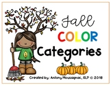 Fall Color Categories
