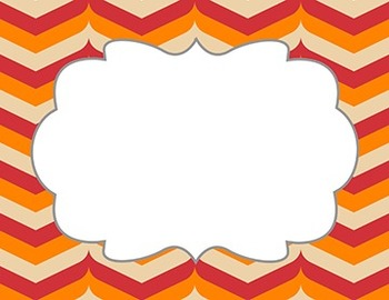 "Fall Color Chevron Patterns with Frame - 15- Pack 11"" x 8.5"""