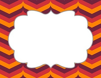 """Fall Color Chevron Patterns with Frame - 15- Pack 11"""" x 8.5"""""""