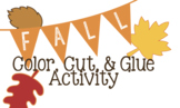 Fall Color, Cut, and Glue Activity