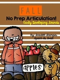 Fall Articulation Activities: Early Developing Sounds