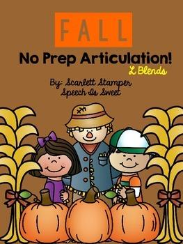 Fall Articulation Activities: L Blends
