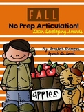Fall Articulation Activities: Later Developing Sounds