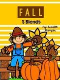 Fall Articulation Activities: S Blends