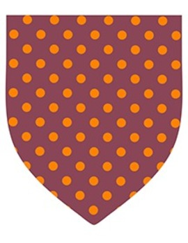 """Fall Color Dotted Pennants - 20-Pack - 8.5"""" x 11"""""""