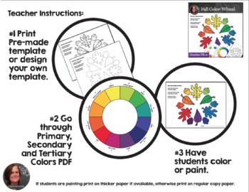 Fall Color Wheel Activity Color Wheel Art Activity By A Space To