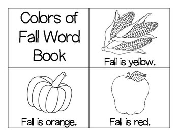 Fall Color Word Book