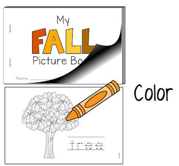 Fall - Color and Trace - Picture Book (PRINT AND GO)
