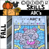 Fall Color by Code ABC's (Uppercase and Lowercase)