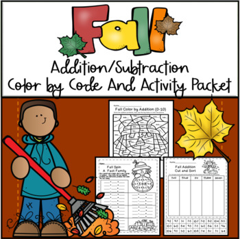 Fall Color by Addition and Subtraction Packet
