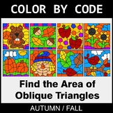 Fall Color by Code - Area of Oblique Triangles