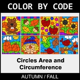 Fall Color by Code - Circles Area & Circumference