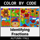 Fall Color by Code - Identifying Fractions