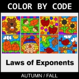 Fall Color by Code - Laws of Exponents