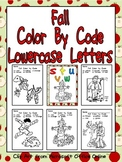 Fall Color by Code Lowercase Letters- Preschool or Kindergarten