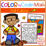 Fall Color by Code – Math (Color by Number, Addition, Subtraction)