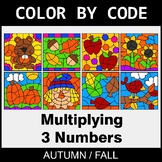 Fall Color by Code - Multiplying 3 Numbers