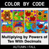 Fall Color by Code - Multiplying by Powers of Ten With Decimals