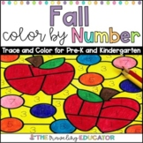 Fall Color by Code Numbers 1-20 Worksheets