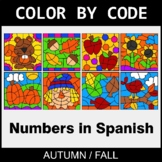 Fall Color by Code - Numbers in Spanish