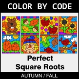 Fall Color by Code - Perfect Square Roots