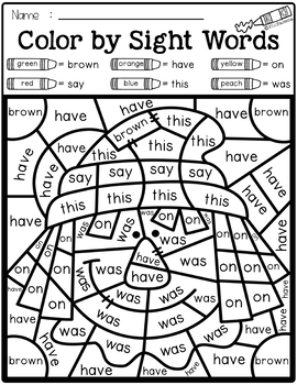 original-4852354-4 Free Kindergarten Sight Words Coloring Pages on free 1st grade, free end year, for spring,